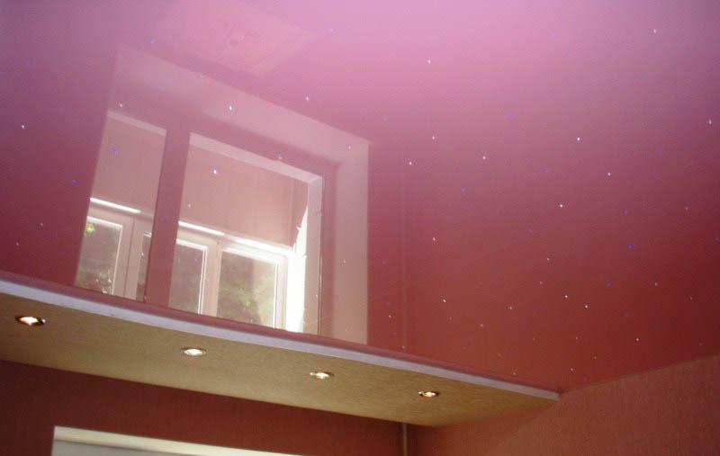 Натяжной потолок в детской комнате фото
