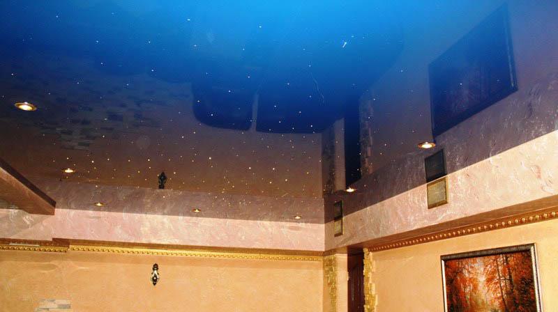 фото натяжной потолок звездное небо
