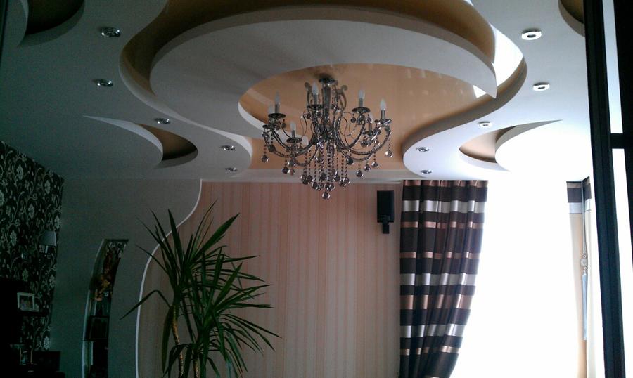 Сатиновые натяжные потолки в Киеве