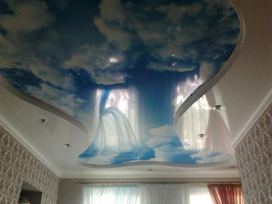 Многоуровневые натяжные потолки в Киеве
